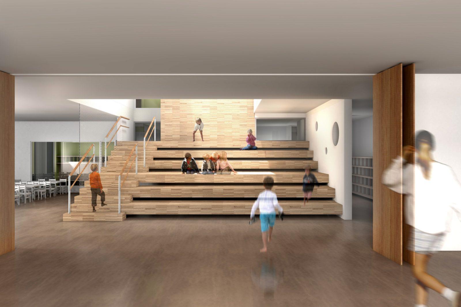 kita_Goyastrasse-Zentraltreppe-Planung