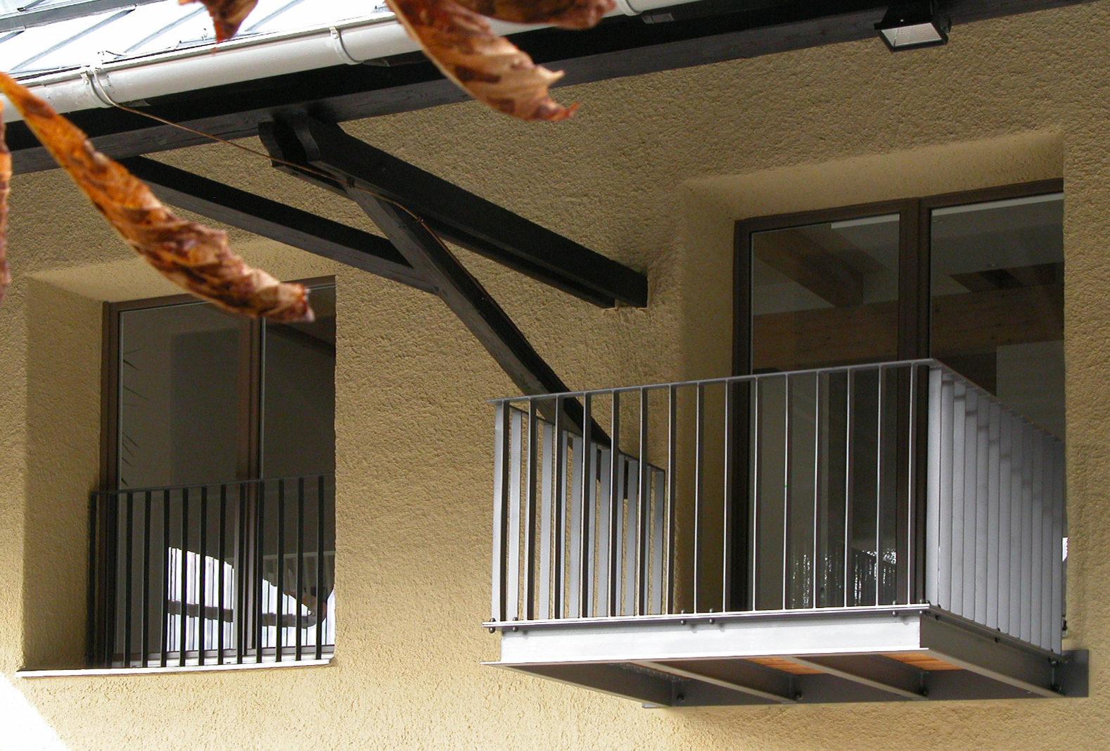 Umbau Scheune Trudering - Balkon Vordach