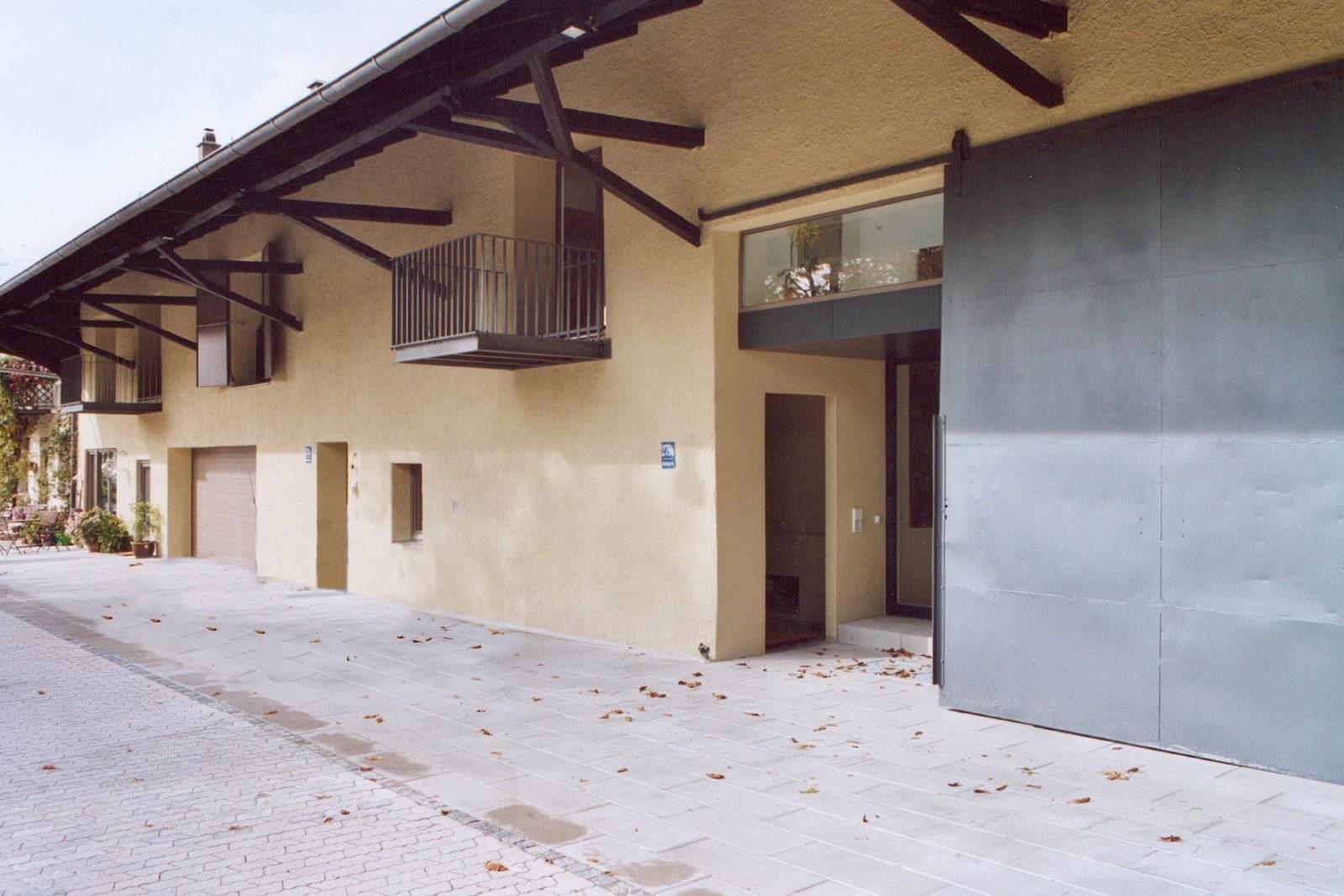 Umbau Scheune Trudering - Hofseite