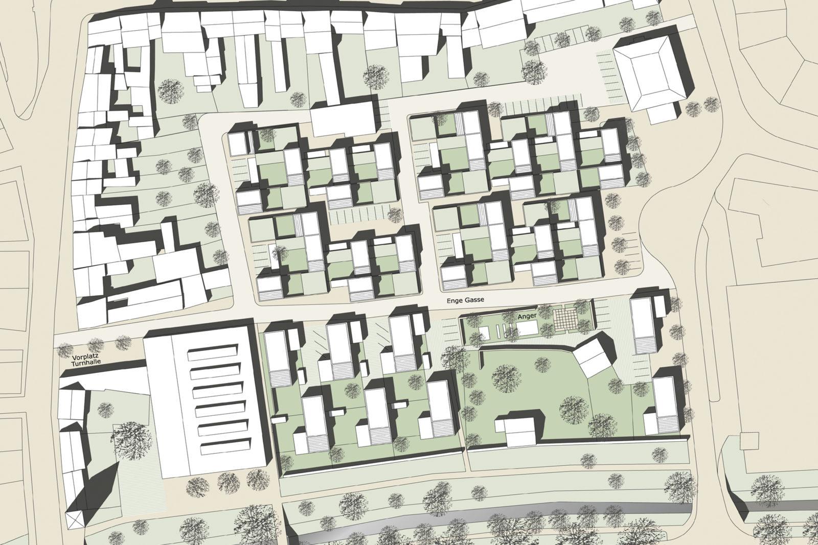 Wohnen an der Stadtmauer Bad Langensalza - Lageplan