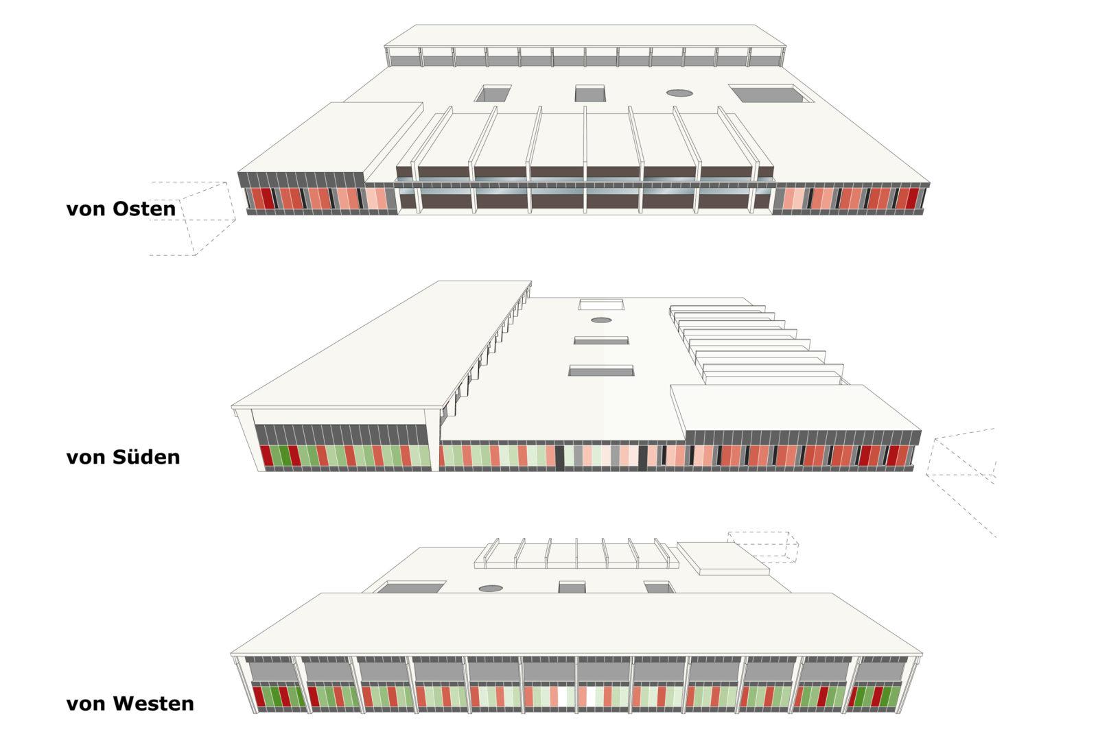 Trainingshalle Olympiastuetzpunkt Judoka und Leichtathletik Leipzig - Ansichten
