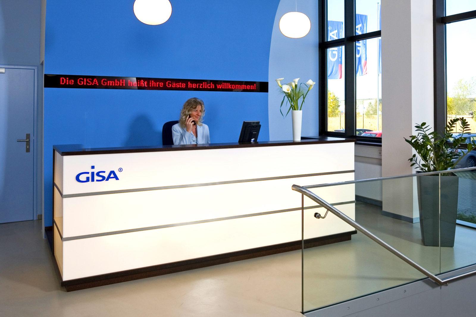 Neugestaltung Geschäftsräume GiSA GmbH in Halle - Empfang