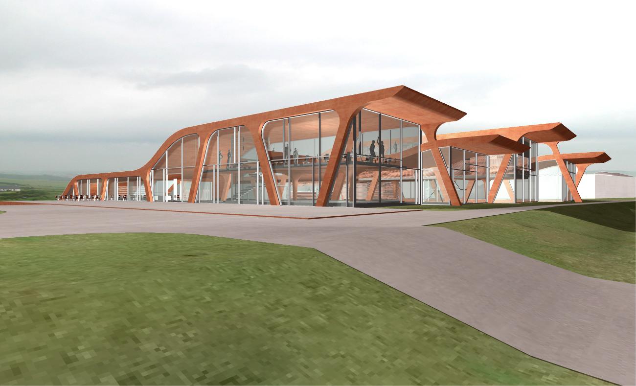 Giants Causeway in Nordirland -  Besucherzentrum