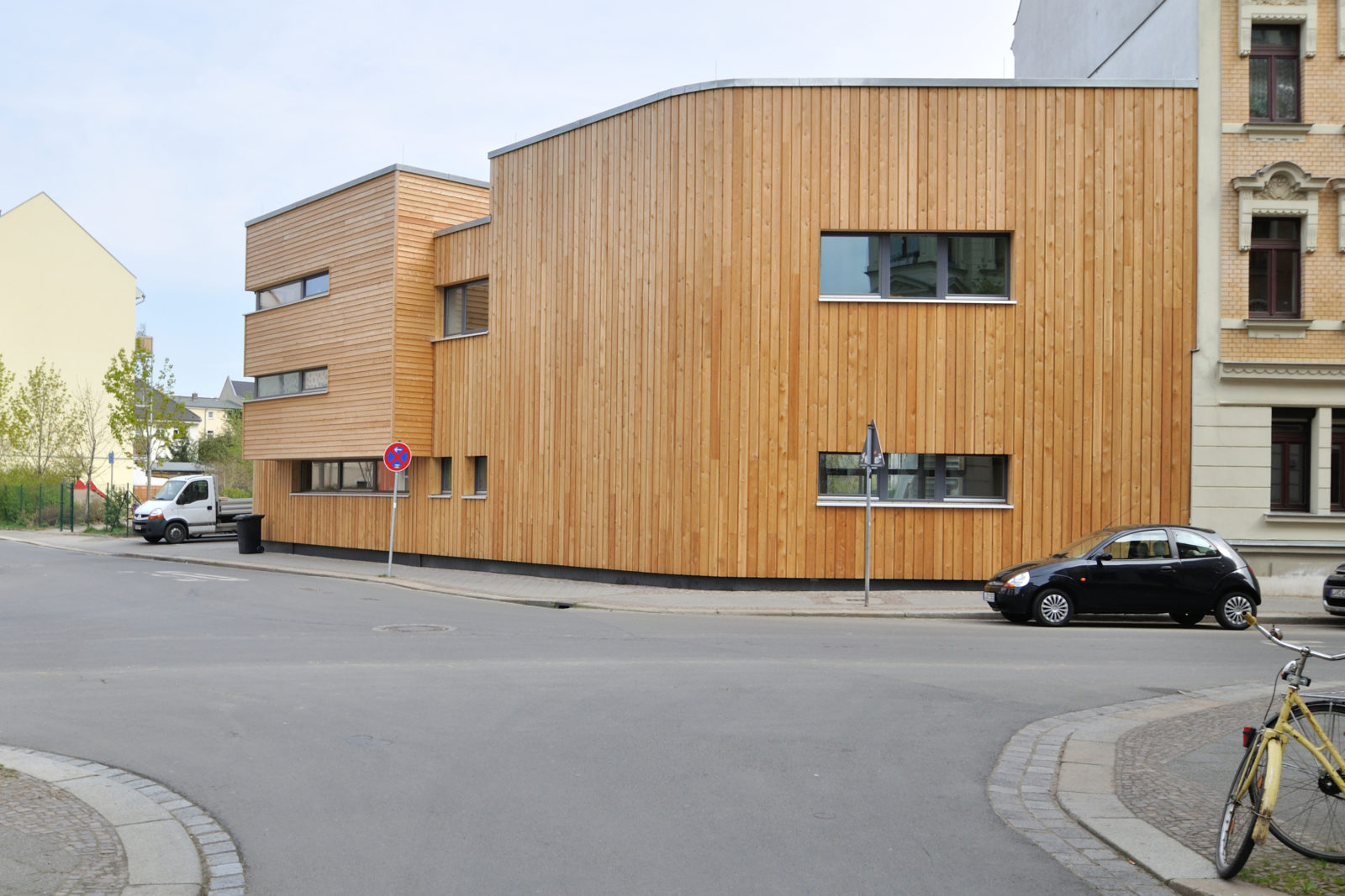 """Neubau Kita """"Treffpunkt Linde"""", Haus Ahorn, Leipzig-Plagwitz -Ansicht Straßenseite"""
