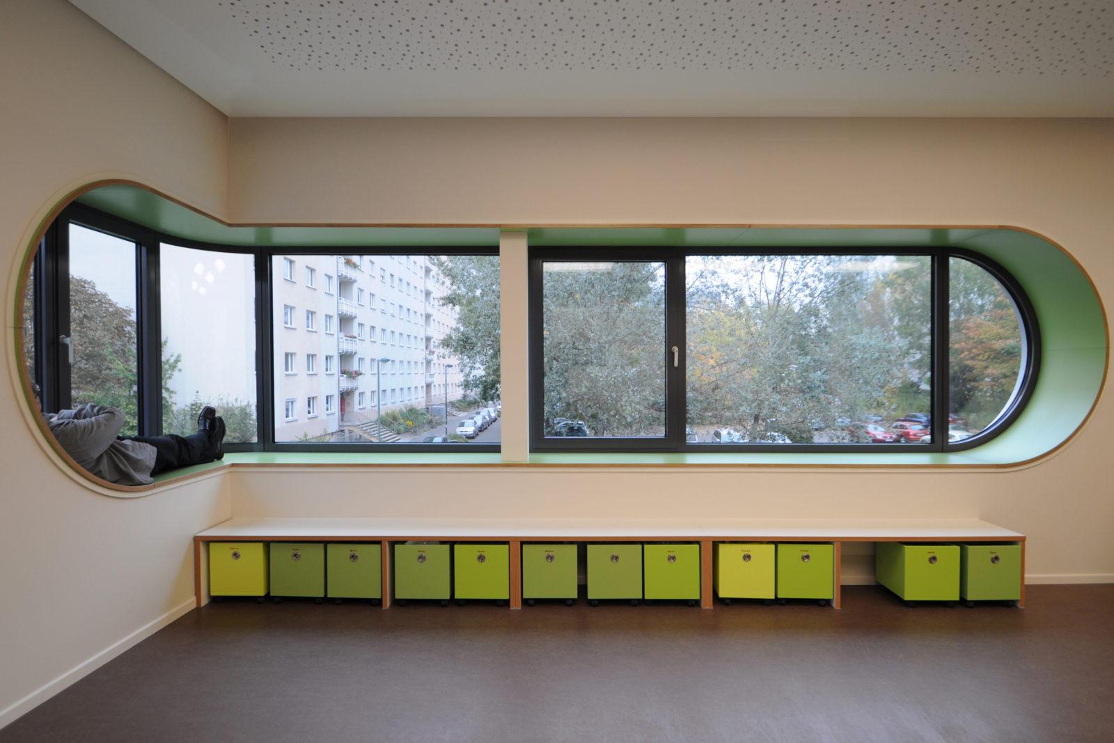 Umbau Werner-Vogel-Schule Leipzig, Lößnig - Eckfenster