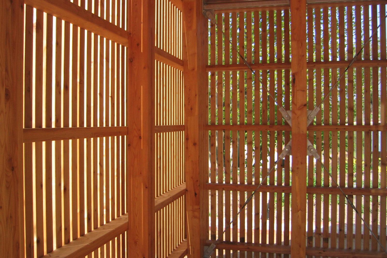 Pavillon im Park Canitz - Fassadendetail
