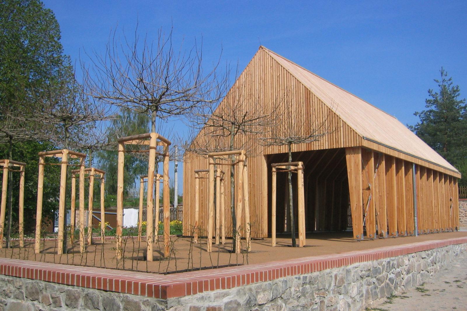 Pavillon im Park Canitz - Außenansicht