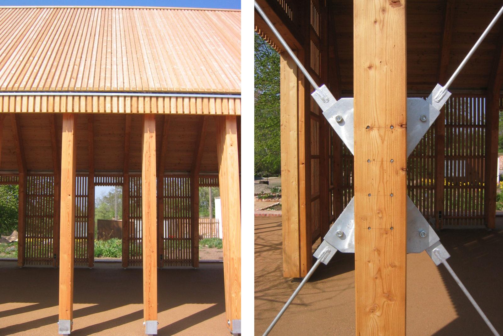 Pavillon im Park Canitz - Konstruktionsdetail