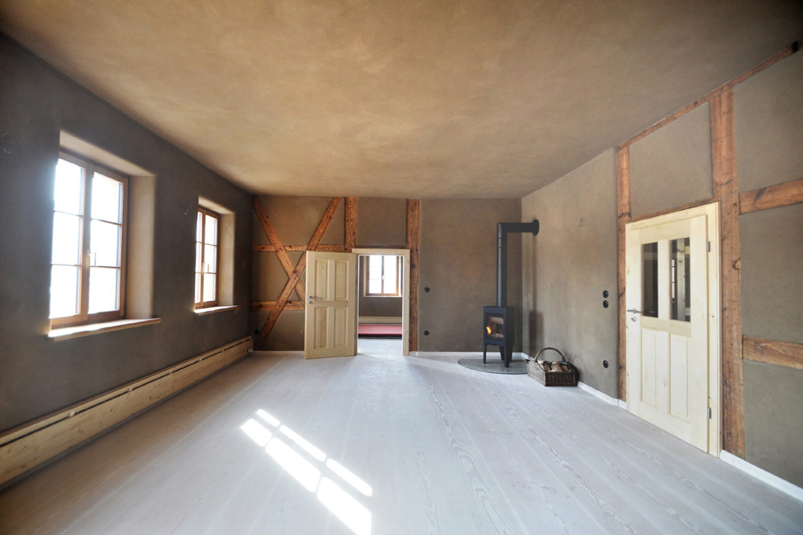 Umbau und Sanierung Baudenkmal Rentmeisterhaus in Püchau - Wohnstube