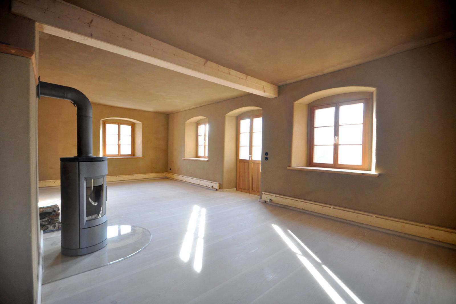Umbau und Sanierung Baudenkmal Rentmeisterhaus in Püchau - Wohnküche