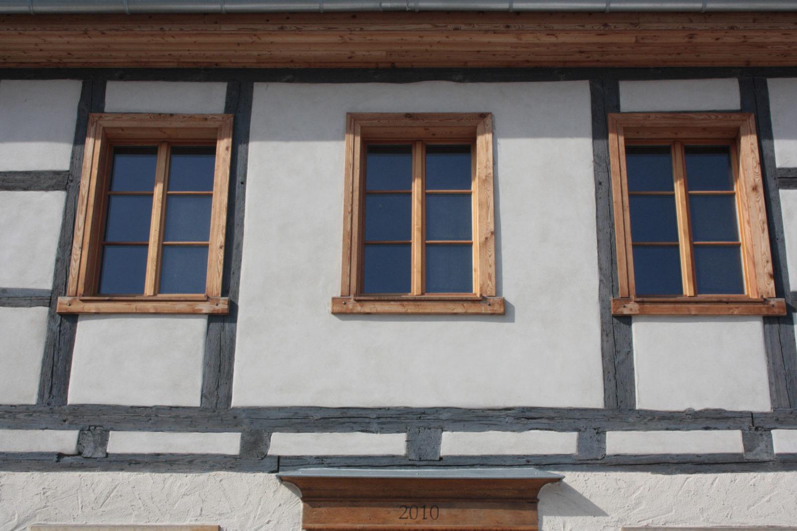Umbau und Sanierung Baudenkmal Rentmeisterhaus in Püchau - Fensterdetail