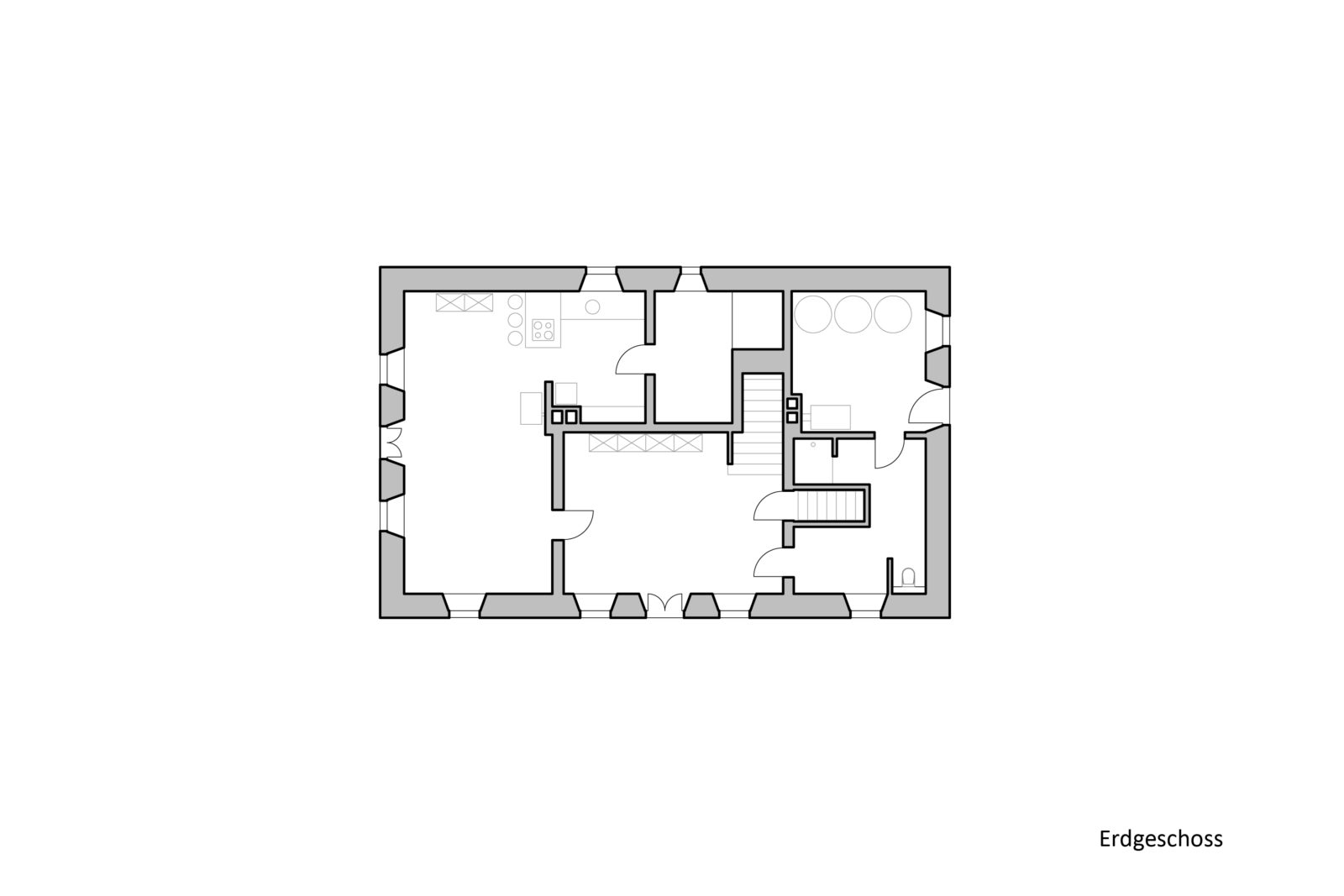 Umbau und Sanierung Baudenkmal Rentmeisterhaus in Püchau - Grundriss Erdgeschoss