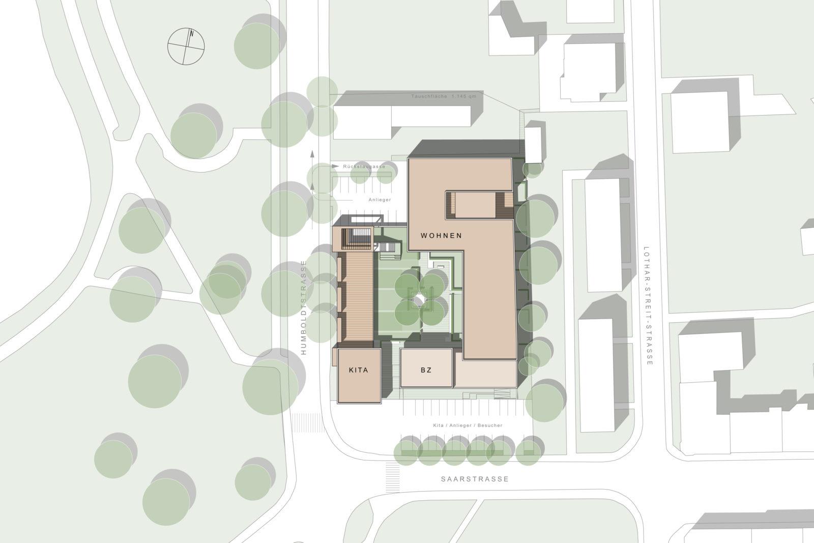 """Gutachterverfahren """"Quatier Grüner Hof"""" in Zwickau - Lageplan"""