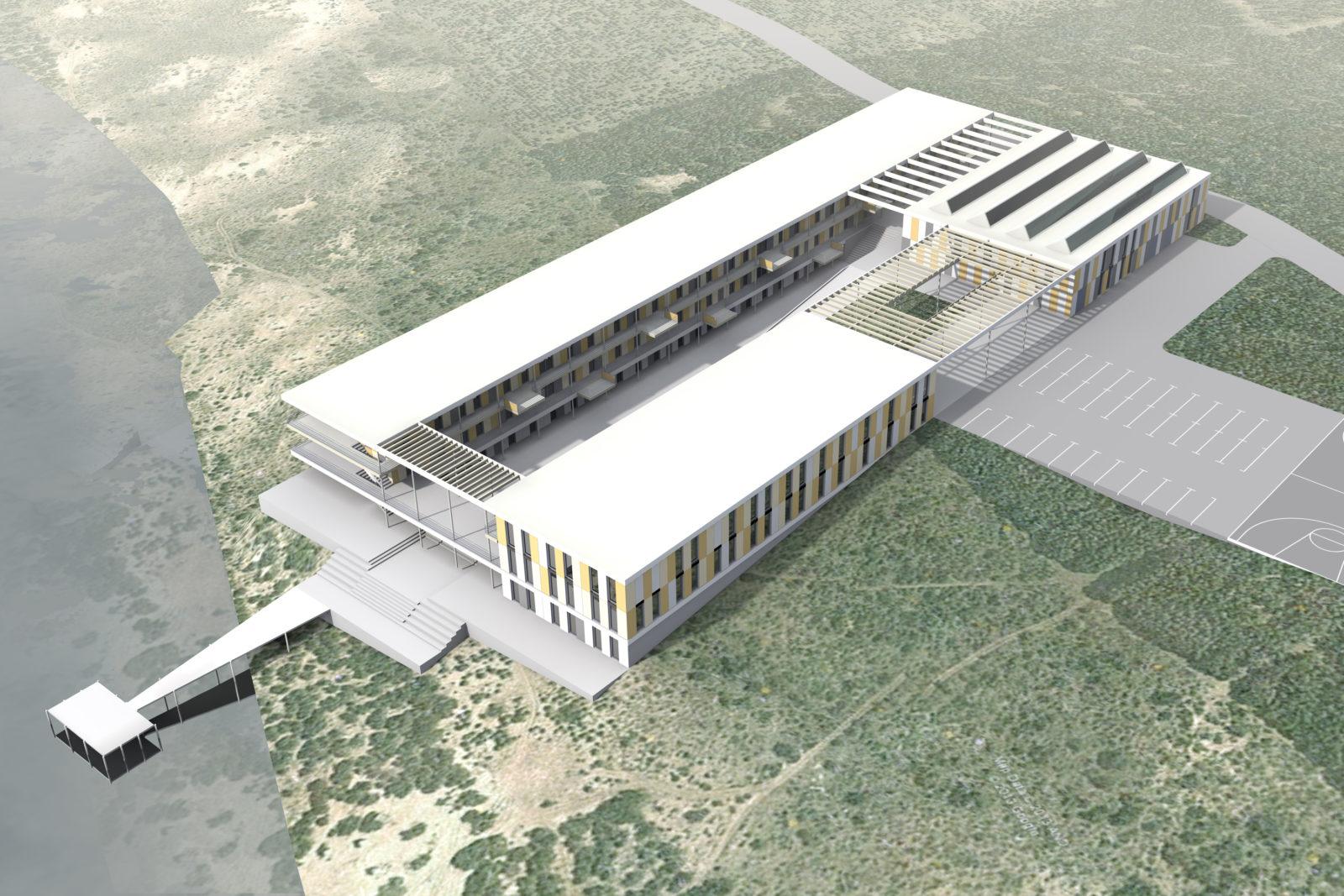 Neubau Seehaus am Hainer See bei Leipzig - Vogelperspektive