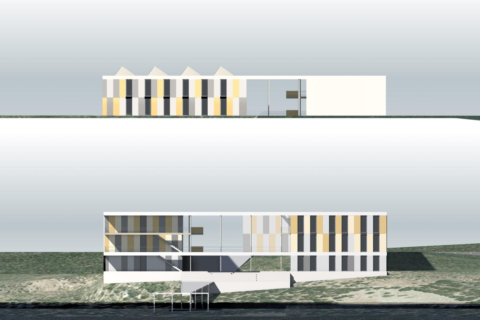 Neubau Seehaus am Hainer See bei Leipzig - Ansichten