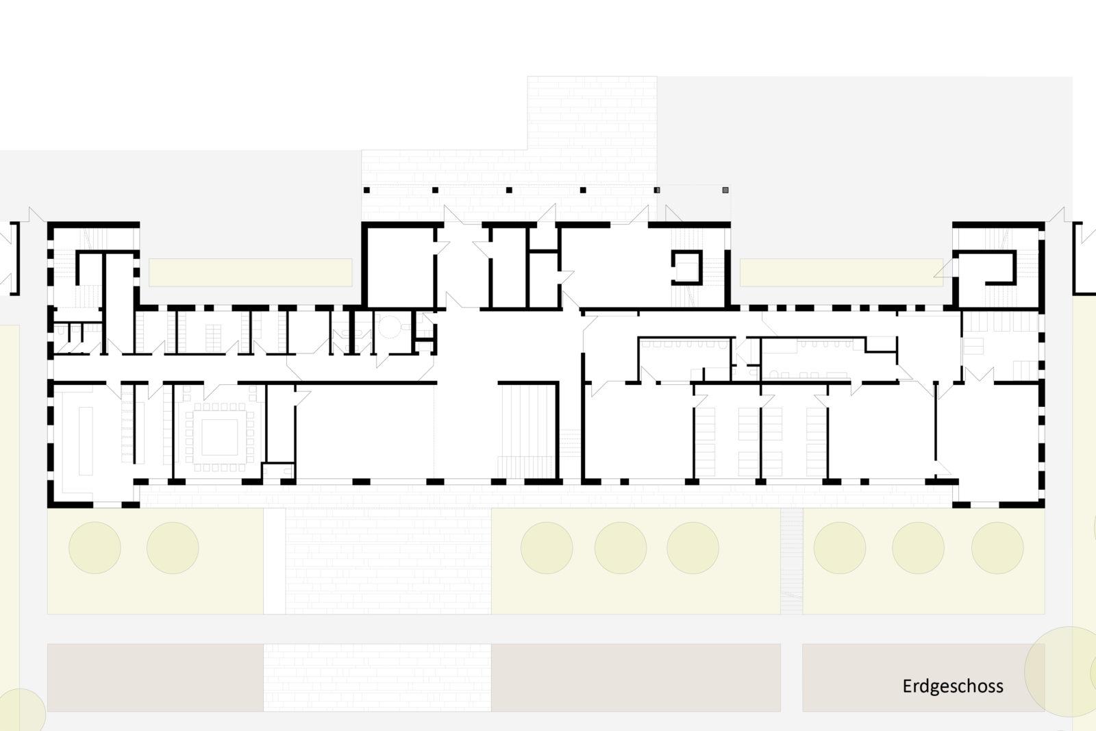 Neubau Kita und Förderschule an der alten Messe, Leipzig - Grundriss Erdgeschoss