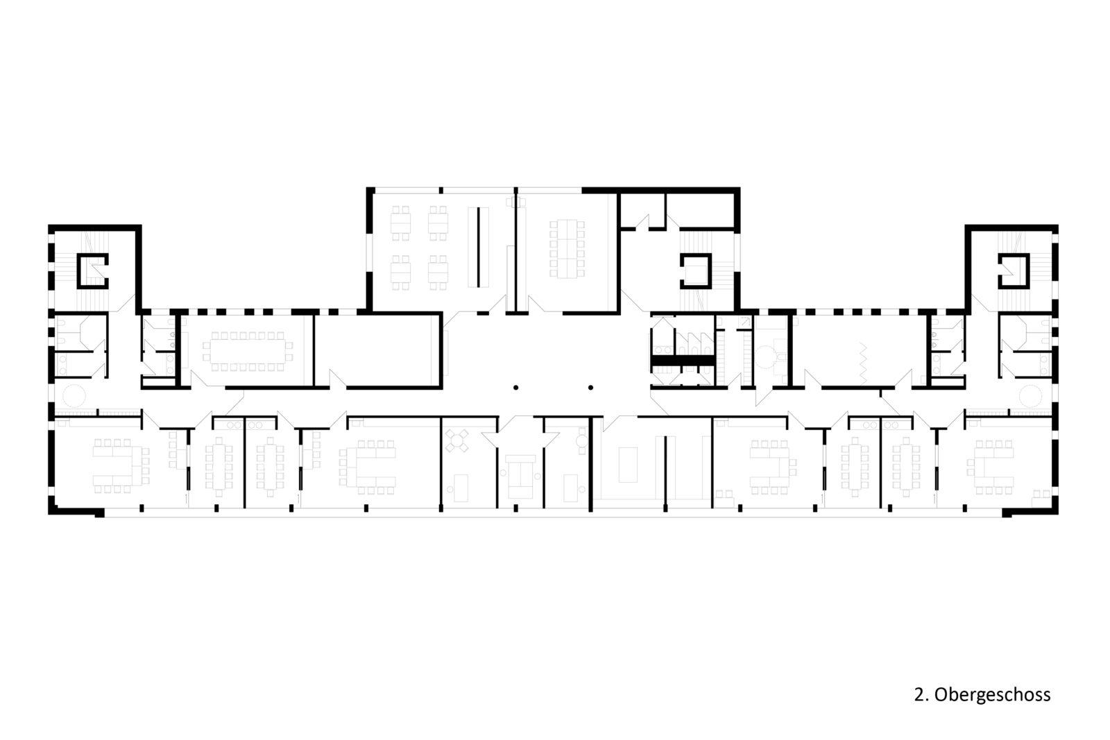 Neubau Kita und Förderschule an der alten Messe, Leipzig - Grundriss 2. Obergeschoss
