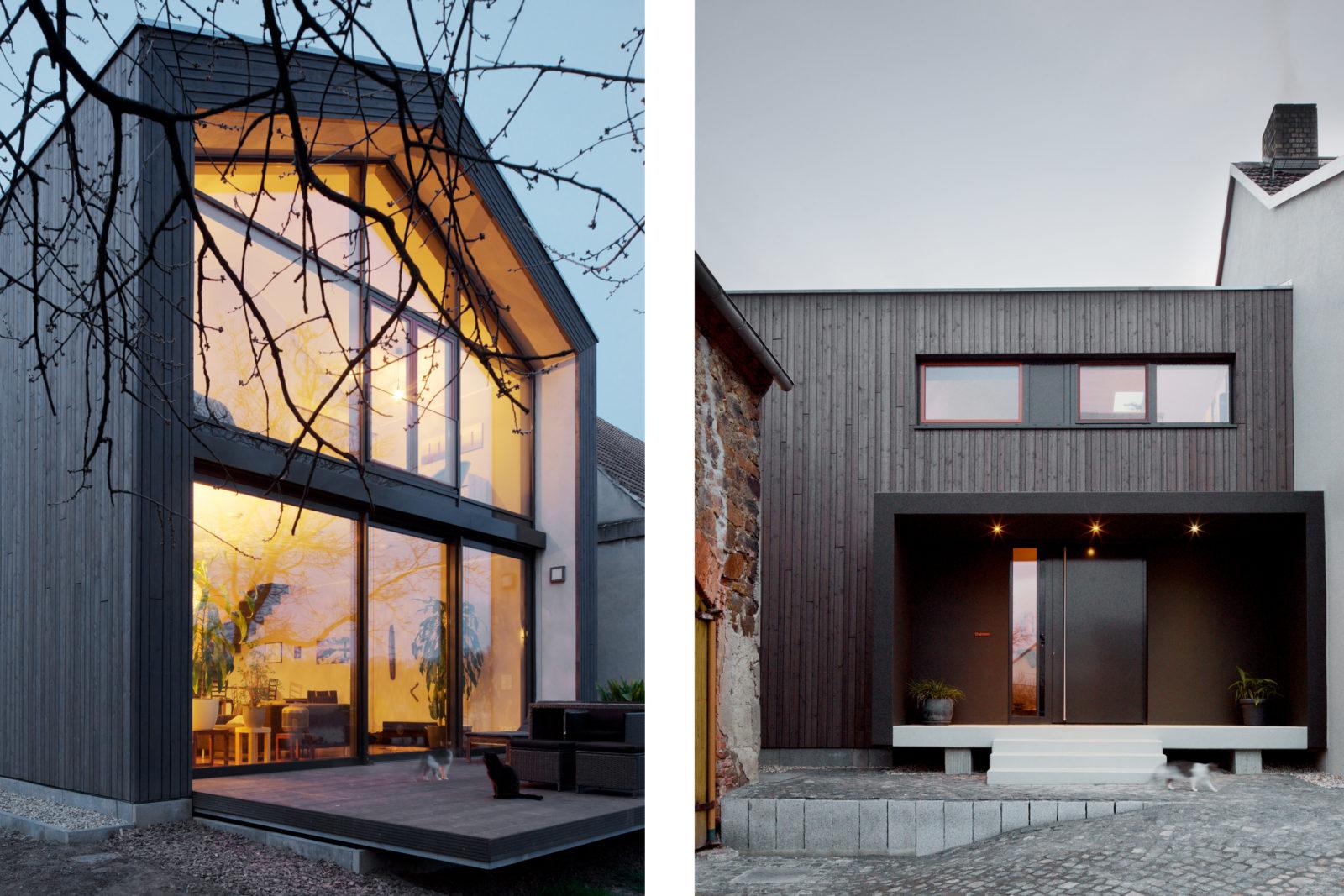 Neubau Haus Thalmann in Püchau - Terrasse und Eingangsbereich