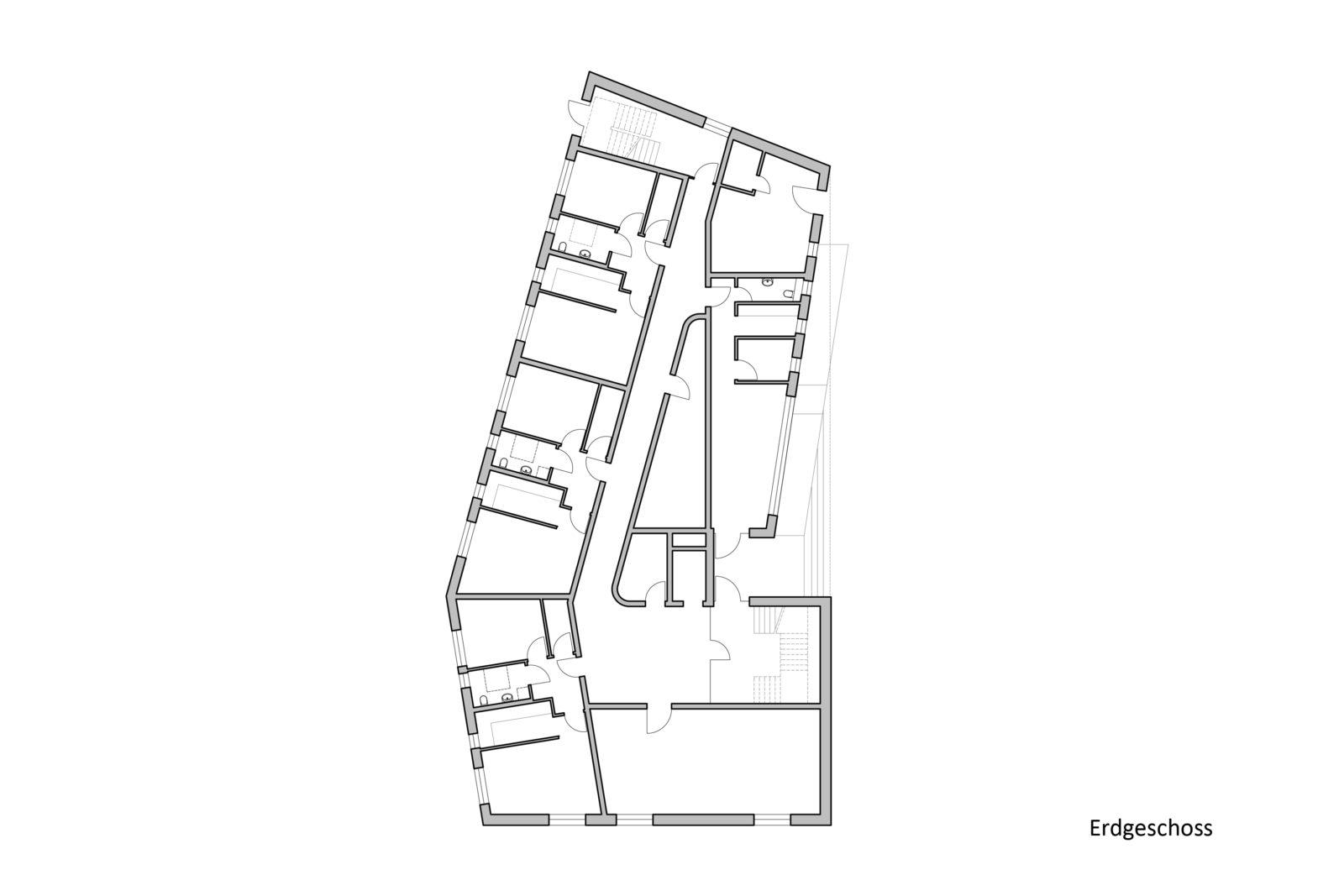 Neubau Altenwohnheim in Leipzig, Eutritzsch - Erdgeschoss