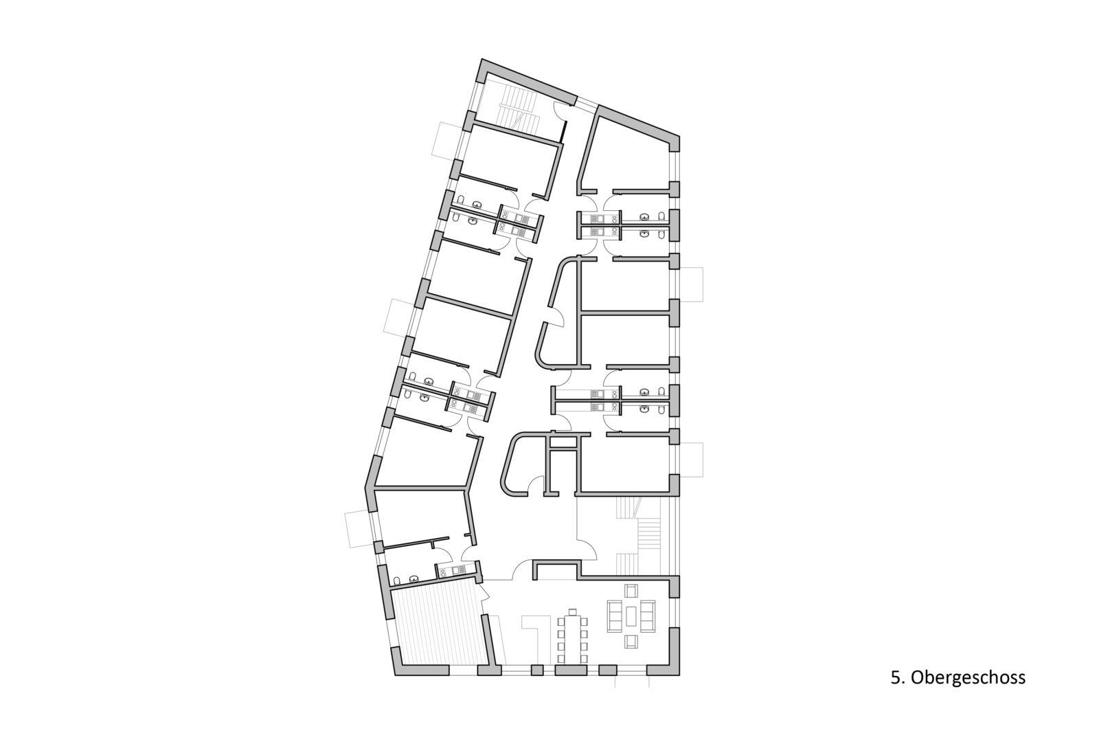 Neubau Altenwohnheim in Leipzig, Eutritzsch - 5. Obergeschoss