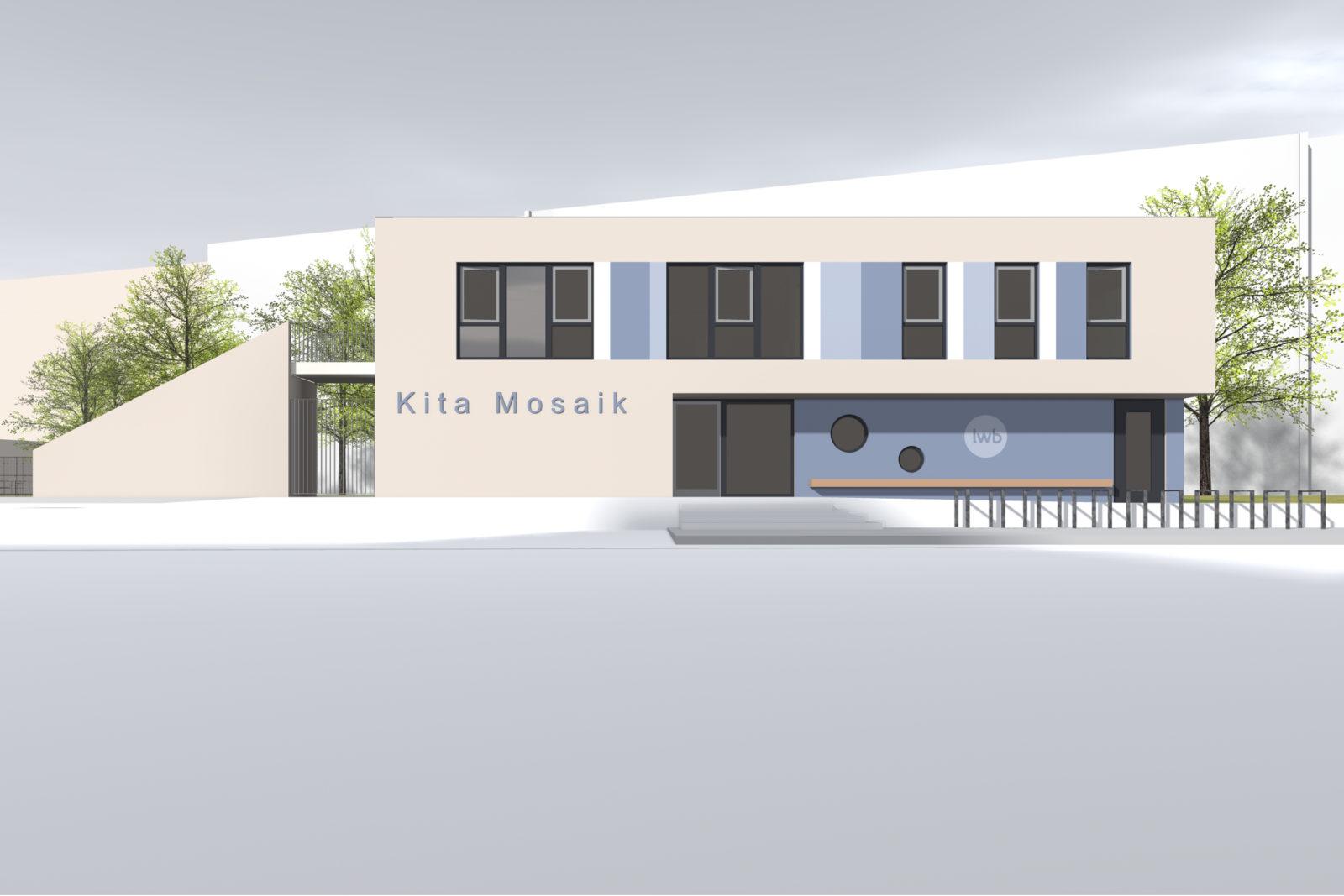 Neubau Kita Mosaik in Leipizg, Zentrum Süd - Eingangsbereich