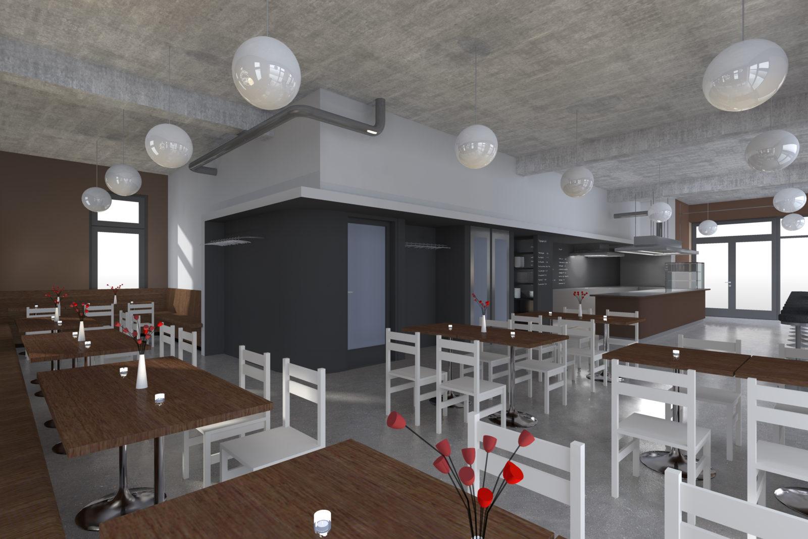 Ausbau Elsterburger in Leipzig, Plagwitz - Imbiss-Lokal