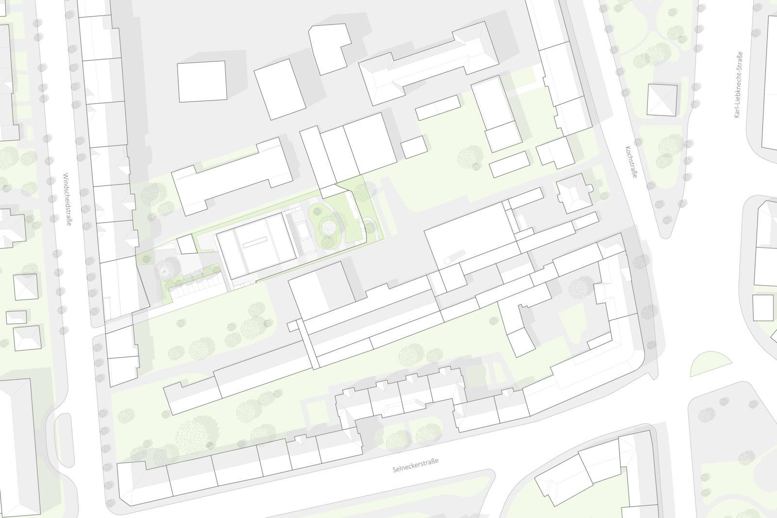 Wettbewerb SOS-Kinderdorf in Leipzig, Connewitz - Lageplan