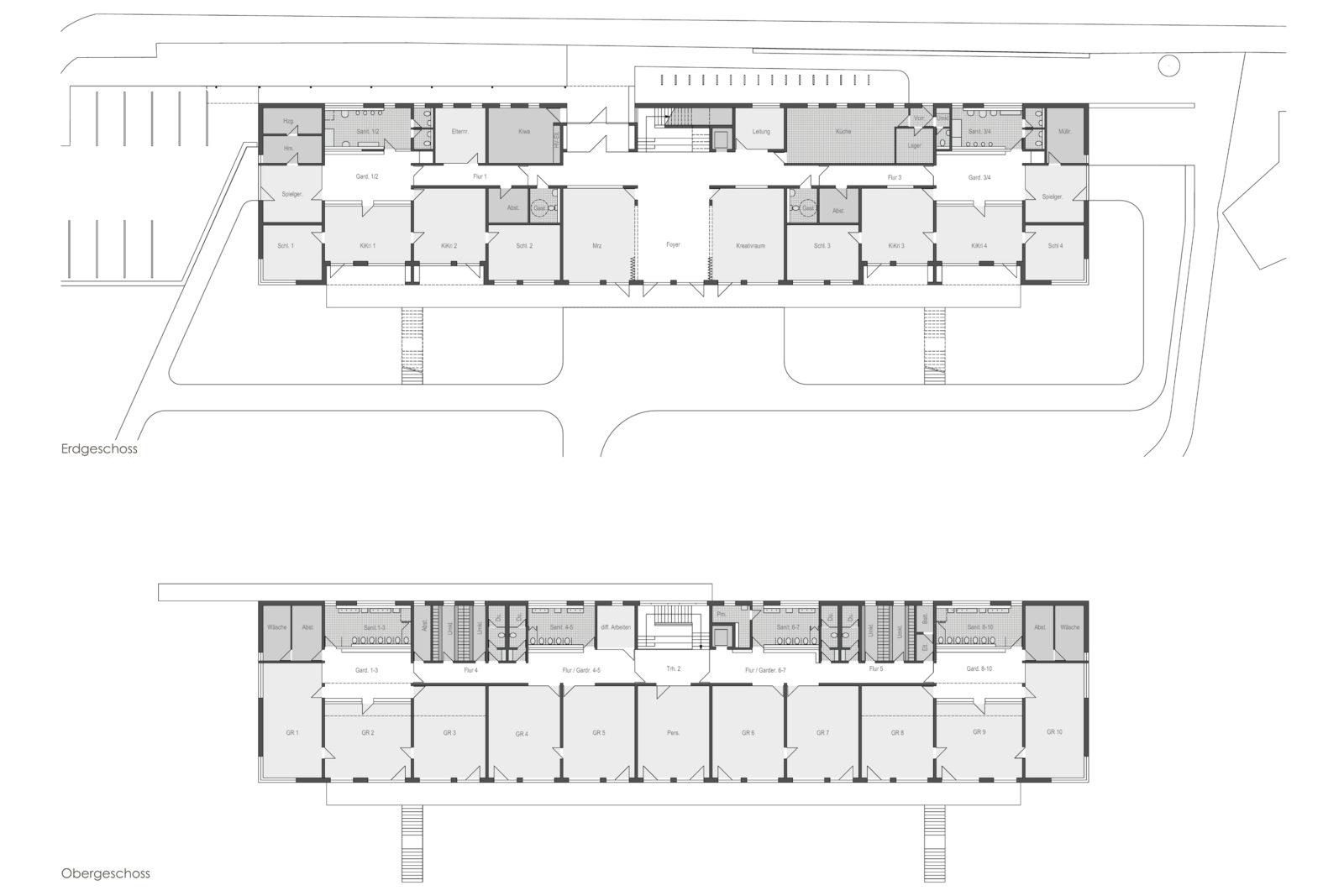 Neubau Kita Ludolf-Colditz-Straße in Leipzig, Stötteritz - Grundrisse