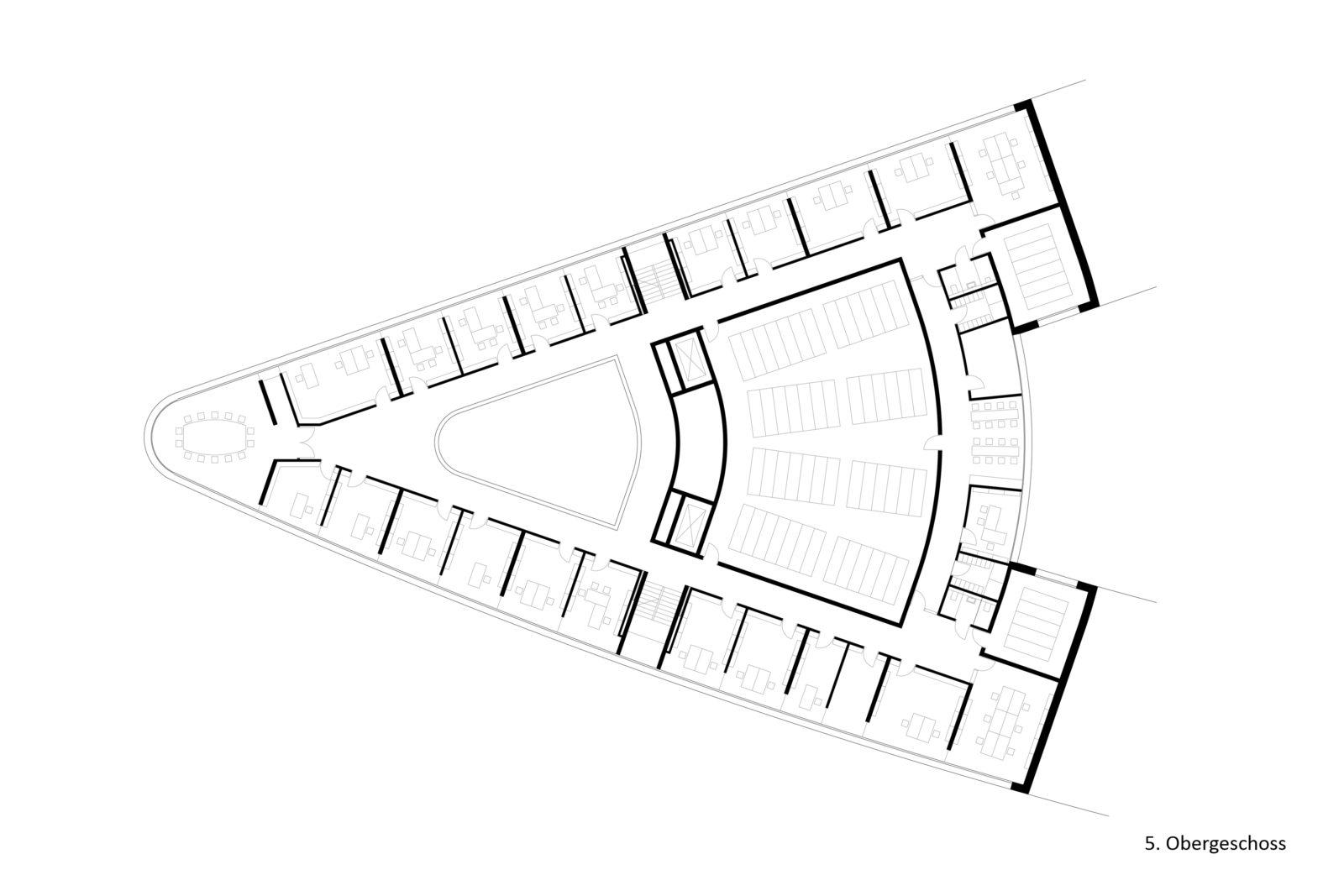 Wettbewerb Leibniz-Institut für Länderkunde in Leipzig, Zentrum - 5. Obergeschoss