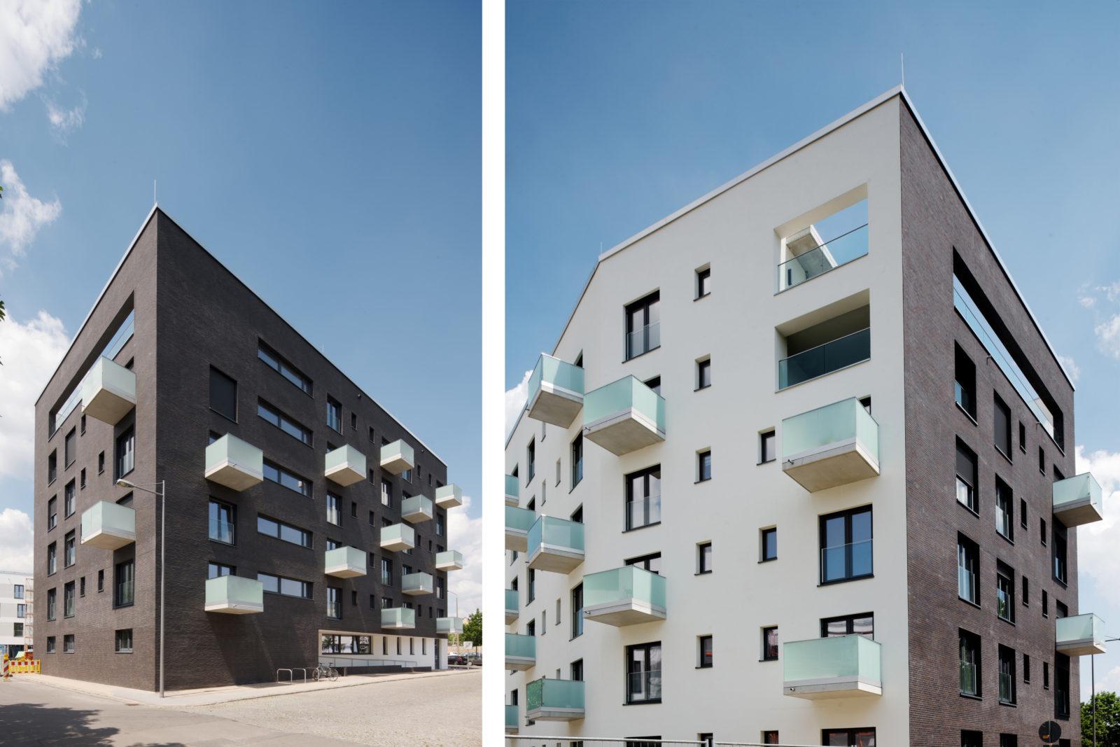 Neubau Altenwohnheim in Leipzig, Eutritzsch - Fassaden