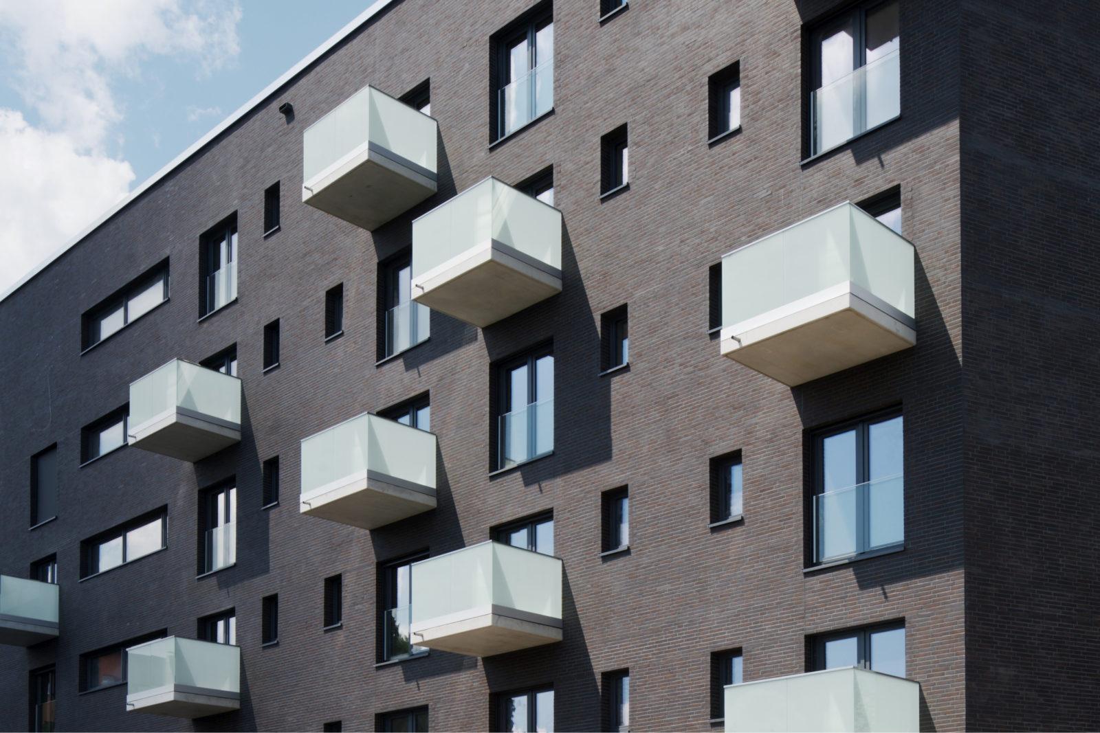 Neubau Altenwohnheim in Leipzig, Eutritzsch - Fassade