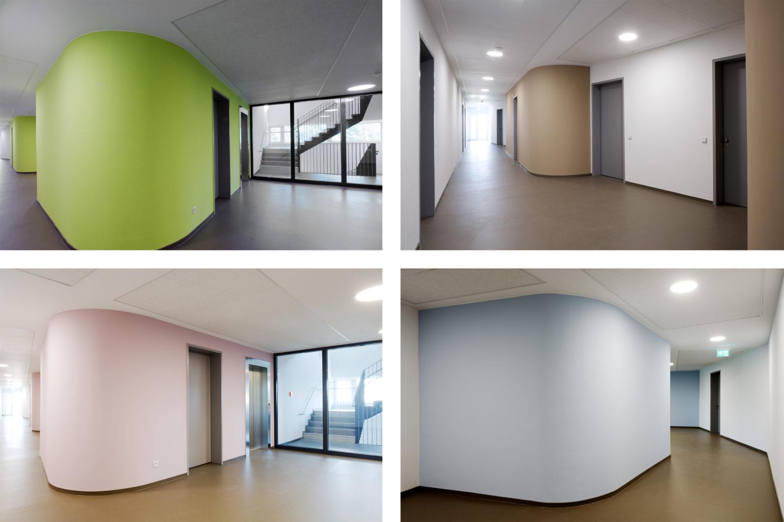 Neubau Altenwohnheim in Leipzig, Eutritzsch - Innen Farbkonzept