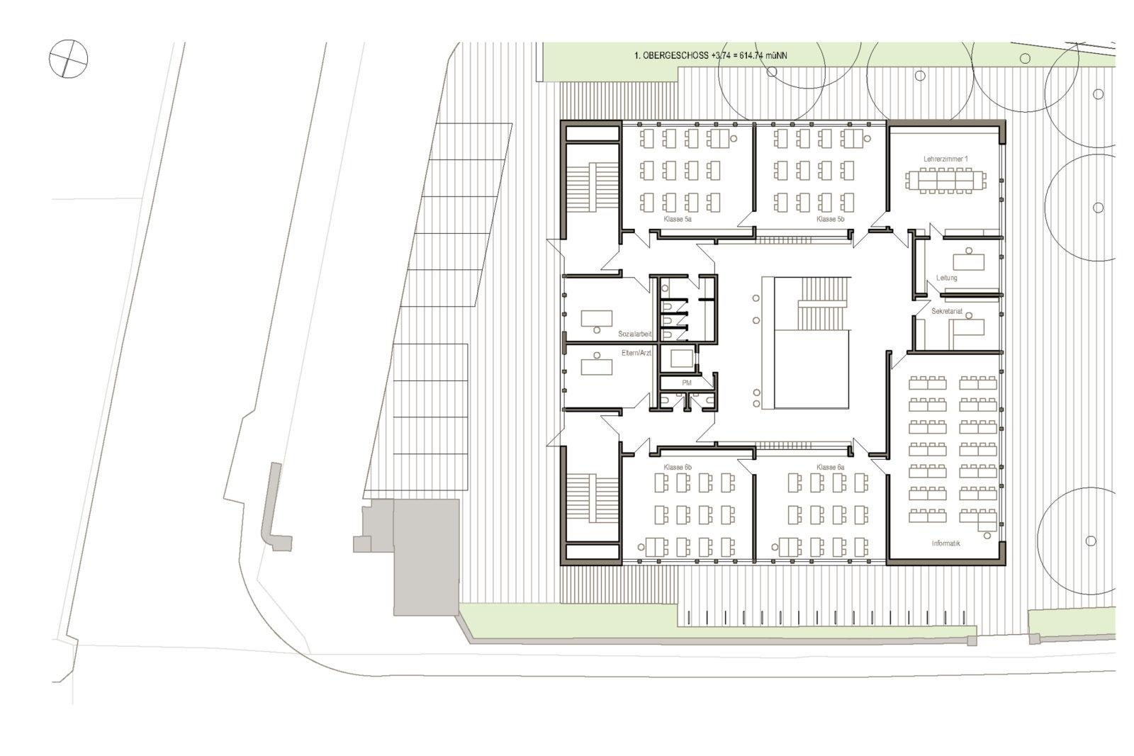 Oberschule Geyer 1. Obergeschoss