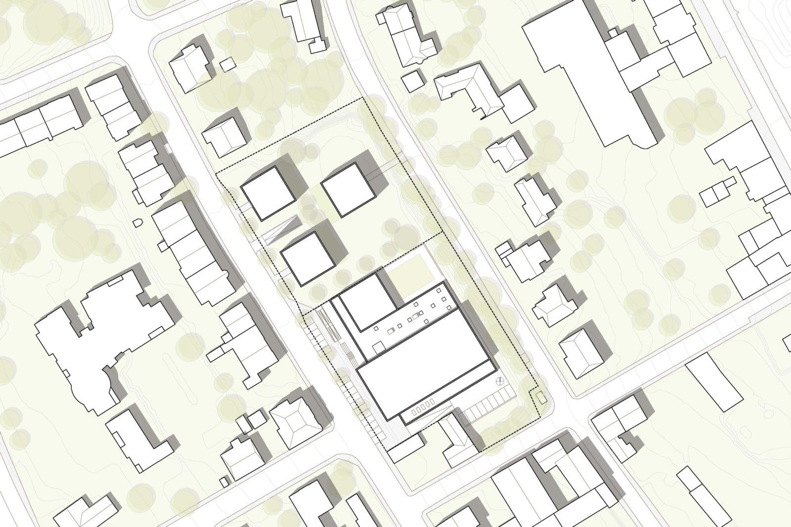 Neubau Sporthalle Pirmasens - Lageplan