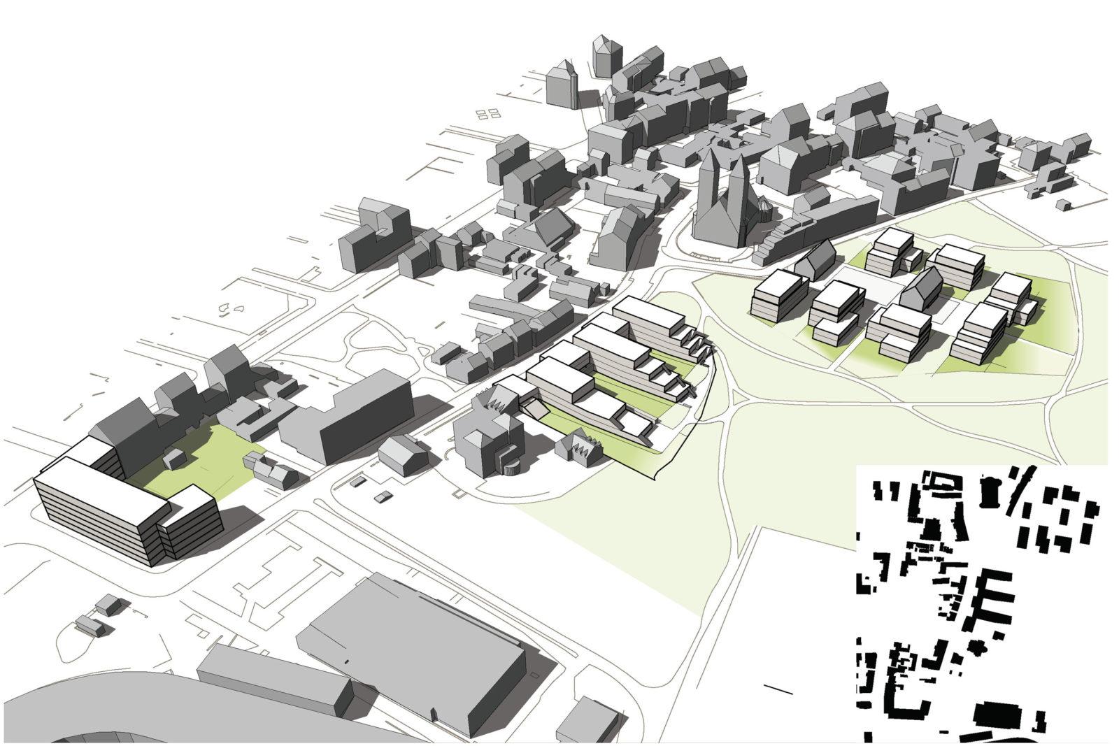 Konzept Baufelder Vogelperspektive