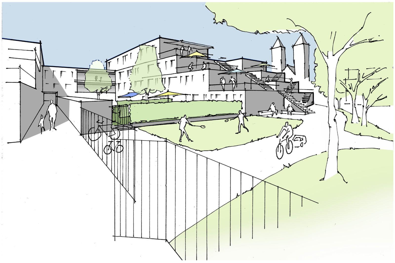 Konzept Baufeld 2 Perspektive